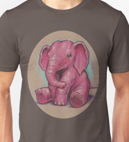 Another Pink Elephant (they're everywhere!) Unisex T-Shirt