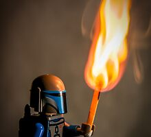 Lego Jango Fett with torch by Adam1965