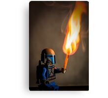 Lego Jango Fett with torch Canvas Print