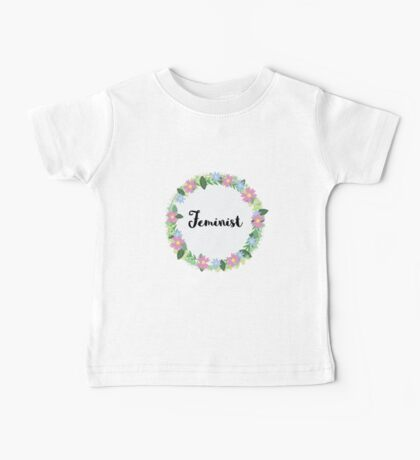 Floral Feminist  Baby Tee