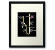 Line 1 Parody Map Framed Print