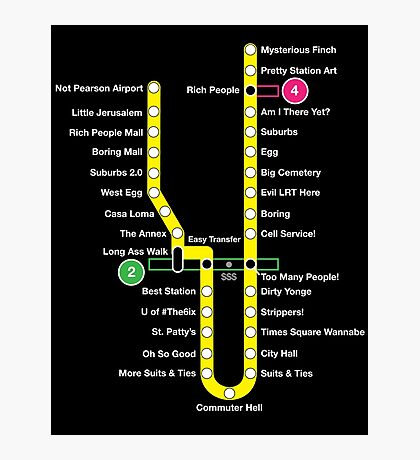 Line 1 Parody Map Photographic Print