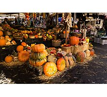 Italian Thanksgiving Harvest at Campo de Fiori in Rome, Italy Photographic Print