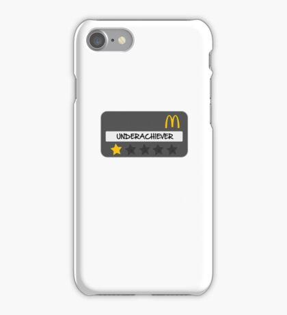 McDonald's Spoof Employee Underachiever badge iPhone Case/Skin