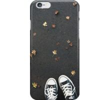 Converse and autumn leaves iPhone Case/Skin