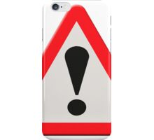 UK Road sign danger ahead exclamation mark iPhone Case/Skin