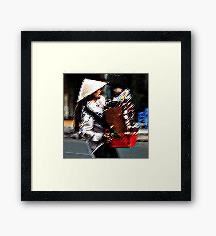 Ho Chi Minh City. Beautiful VCD Seller Framed Print
