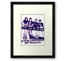 THE YOUNG ONES Comedy T-Shirt Framed Print