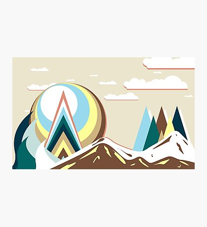 Colors Mountain Photographic Print
