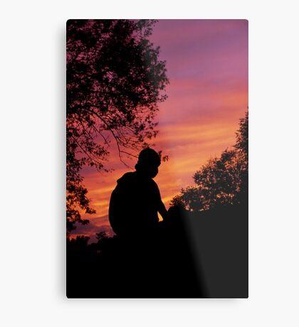 Homer at Sunset Metal Print