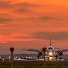 Liverpool Airport at sunset by Paul Madden
