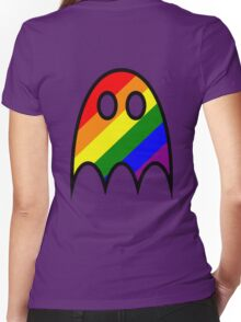 Boo The Gay Ghost Women's Fitted V-Neck T-Shirt