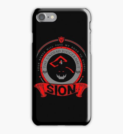 Sion - The Undead Juggernaut iPhone Case/Skin