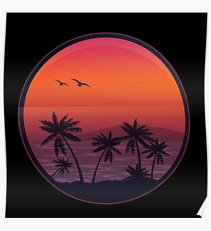 PANAMA BEACH SUNSET Poster