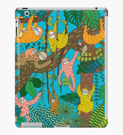 Happy Sloths Jungle  iPad Case/Skin
