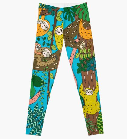 Happy Sloths Jungle  Leggings