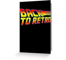 Back to Retro Greeting Card