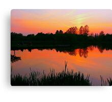The beauty of a Sunset.  Canvas Print