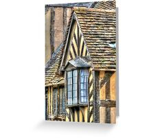 Tudor Style House Greeting Card