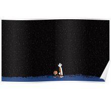 Calvin and Hobbes Stars Poster