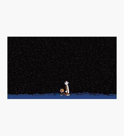 Calvin and Hobbes Stars Photographic Print