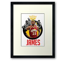 LeBron James (King James) Design | by xxdengraphicxx Framed Print
