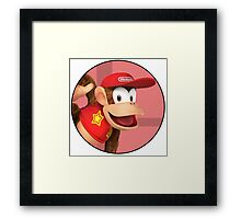 Smash 4 - Diddy Kong Framed Print