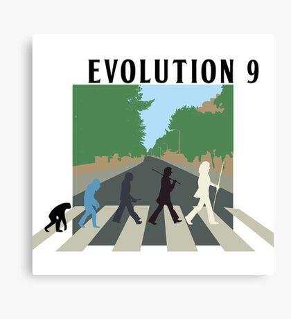 Evolution #9 (Beatles' Abbey Road/March of Progress) Canvas Print