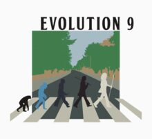 Evolution #9 (Beatles' Abbey Road/March of Progress) Kids Tee