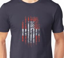 Switzerland and America Flag Combo Distressed Design Unisex T-Shirt