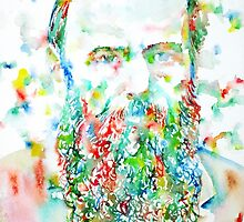 FYODOR DOSTOYEVSKY - watercolor portrait by lautir