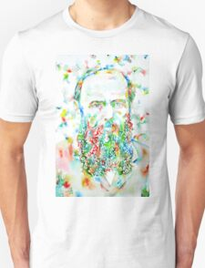 FYODOR DOSTOYEVSKY - watercolor portrait T-Shirt