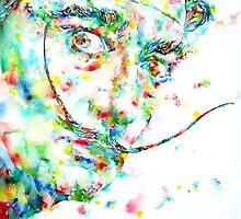 SALVADOR DALI - watercolor portrait by lautir