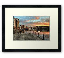 HDR Sunset over the Shore in Leith, Edinburgh Framed Print