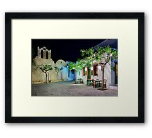 Have a seat in Folegandros Framed Print