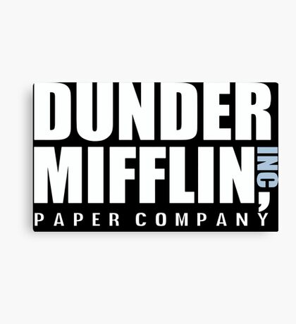 Dunder Mifflin The Office Funny Typography Text Logo Shirts Canvas Print