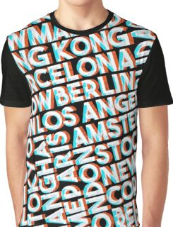 World city names typography Graphic T-Shirt
