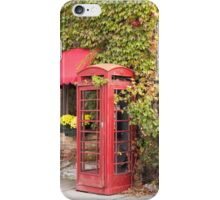 An old style telephone booth iPhone Case/Skin