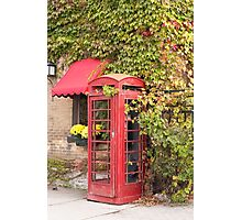 An old style telephone booth Photographic Print