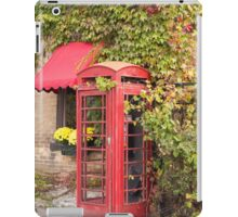 An old style telephone booth iPad Case/Skin