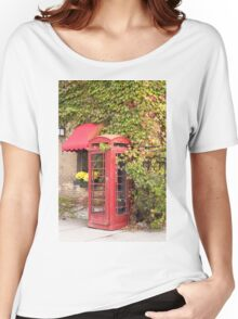An old style telephone booth Women's Relaxed Fit T-Shirt