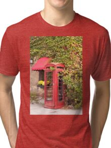 An old style telephone booth Tri-blend T-Shirt