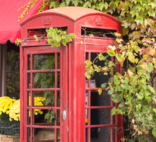 An old style telephone booth Sticker