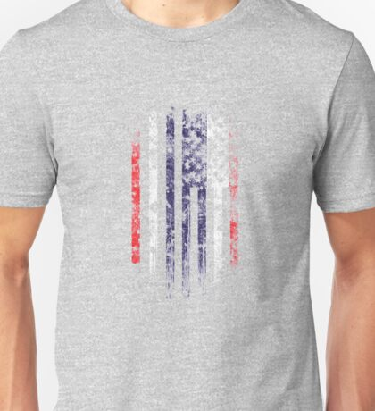 Thailand and America Flag Combo Distressed Design Unisex T-Shirt
