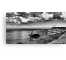 Beautiful clouds at the Cliffs Canvas Print