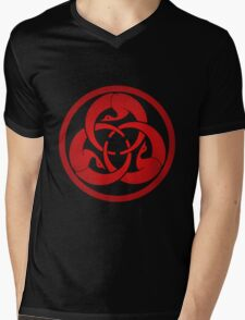 Hagakure Red Mens V-Neck T-Shirt