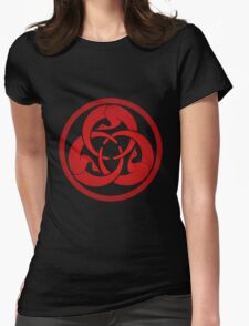 Hagakure Red Womens Fitted T-Shirt