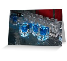 Ice Glass Greeting Card