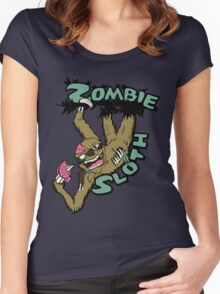Zombie Sloth Women's Fitted Scoop T-Shirt