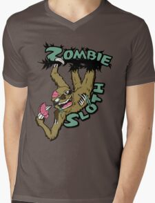 Zombie Sloth Mens V-Neck T-Shirt
